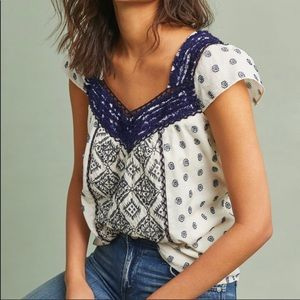 Maeve Anthropology Boho Palm Springs Top